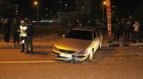 ŞERİT İHLALİ - Otomobille Çarpışan Araç Metrelerce Sürüklendi