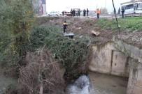 NECATI ÇELIK - Yoldan Çıkan Otomobil Irmağa Uçmaktan Çalılıklar Kurtardı