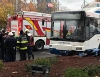 BELEDIYE OTOBÜSÜ - Ankara'da belediye otobüsü yayalara çarptı