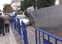 TOPRAK KAYMASI - İstanbul'da Yol Çöktü, Otomobil Askıda Kaldı