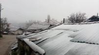 Kepsut'ta Kar Yağışı Başladı