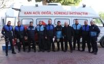 KANSERLE MÜCADELE - Kuşadası Belediyesi Zabıta Müdürlüğünden Kök Hücre Ve Kan Bağışı