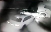 KAMYONCU - Lüks Araçlarla Tırlardan Yakıt Hırsızlığı Kamerada