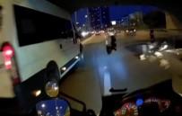 CEVIZLI - Motosikletlinin Metrelerce Sürüklendiği Kaza Kamerada