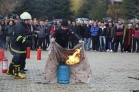 ISPARTA BELEDİYESİ - SDÜ'de Yangın Tatbikatı