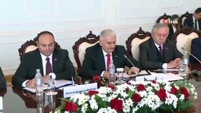 TBMM Başkanı Yıldırım, Kırgızistan'da Basın Toplantısı Düzenledi