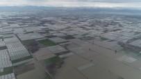 YEŞILTEPE - Mersin'de Seralar Sular Altında Kaldı