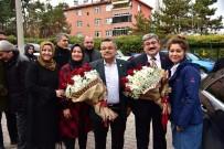 SELIM YAĞCı - Başkan Can'a Miting Havasına Coşkulu Karşılama