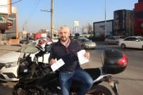 ALIŞVERİŞ MERKEZİ - Motoruna Öyle Bir Ceza Geldi Ki Makbuzu Görünce Şok Oldu