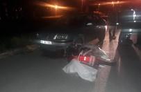 NECATI ÇELIK - Otomobilin Çarptığı Elektrikli Bisiklet Sürücüsü Yaralandı