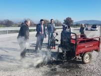 Araçları Yanan Vatandaşların Yardımına AFAD Koştu