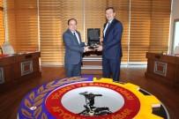 AFYONKARAHISAR TICARET VE SANAYI ODASı - ZEKA Genel Sekreteri Yusuf Balcı, ATSO Başkanı Hüsnü Serteser İle Bir Araya Geldi