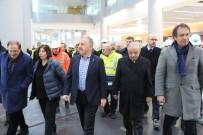 AVRASYA TÜNELİ - Bakan Arslan, 3. havalimanını havadan inceledi
