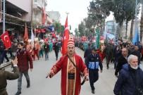MAHMUT HERSANLıOĞLU - Sınırın Sıfır Noktasında, Mehmetçiğe Destek İçin Mehteranlı Yürüyüş