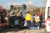 YENIKÖY - Antalya'da Trafik Kazası Açıklaması 1 Ölü, 3 Yaralı