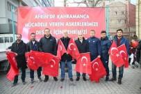 ATEŞ ÇEMBERİ - Kütahya Belediyesi 10 Bin Türk Bayrağı Dağıttı