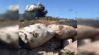 AZEZ - YPG Cephaneliği Böyle Vuruldu