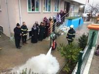 İTFAİYE MÜDÜRÜ - Belediye'den Yangın Eğitimi Tatbikatı