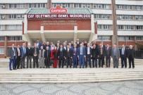 İMDAT SÜTLÜOĞLU - Rizeli Muhtarlardan ÇAYKUR Genel Müdürü İmdat Sütlüoğlu'na Destek Ziyareti