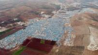 MÜLTECİ KAMPI - Roketlerin Vurduğu Atme Kampı Havadan Görüntülendi