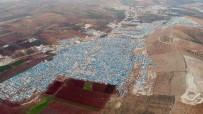 MÜLTECİ KAMPI - YPG'li Teröristlerin Hedefi Olan O Kamp Havadan Görüntülendi