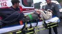 YOLCU MİDİBÜSÜ - Antalya'da Yolcu Midibüsü Devrildi Açıklaması 9 Yaralı