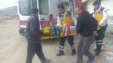 Yüksekten Düşen İnşaat İşçisi Yaralandı