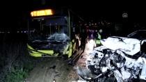 BELEDIYE OTOBÜSÜ - Bursa'da Belediye Otobüsü İle Kamyonet Çarpıştı Açıklaması 1 Ölü, 2 Yaralı