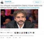 Deniz Yücel'in Tahliyesini Avukatı Twitterdan Duyurdu