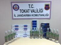 YOLCU OTOBÜSÜ - Jandarmadan Sigara Ve Alkol Kaçakçılarına Operasyon