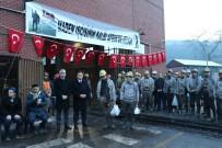 MADEN OCAĞI - Madenciler, Mehmetçikler İçin Kur'an Okutup Kurban Kesti