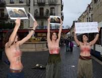 TÜRK SILAHLı KUVVETLERI - Almanya'da PKK'lılardan çıplak eylem