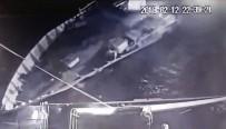 KARDAK - Türk Sahil Güvenlik Botu Ve Yunan Botunun Çarpışma Anları Güvenlik Kameralarına Yansıdı