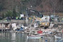 KILIMLI - Zonguldak'ta Kıyı Kenar Çizgisindeki Yapıların Yıkımına Başlandı