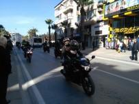 ALİ COŞKUN - Denizli'de Motorlarına Afrin Şehitlerinin İsimlerini Yazıp Şehir Turu Attılar