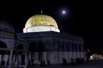 SABAH NAMAZı - Kudüs'te Dolunay Manzarası Mest Etti
