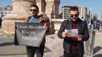 TAKSIM - Taksim'de 'Çocuk İstismarı' Eylemi