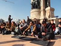 OTURMA EYLEMİ - Taksim'de 'Çocuk İstismarı' Eylemi