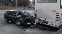 ERKILET - Kayseri'de Trafik Kazası Açıklaması 2 Yaralı