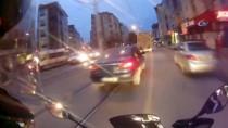 ABDİ İPEKÇİ - (Özel) Motosikletlinin Ölümden Döndüğü Anlar Kask Kamerasına Yansıdı