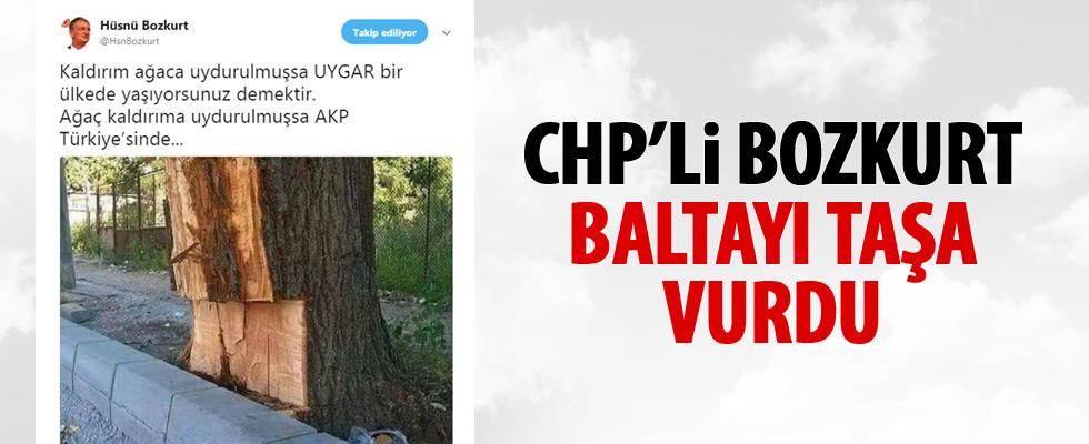 CHP'li Bozkurt, baltayı taşa vurdu