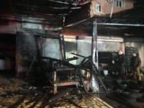 YANGINA MÜDAHALE - Alanya'da İşyeri Yangını Korkuttu
