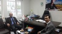 HÜSEYIN ÖNER - Burhaniye'de Kaymakam Öner'den İlçe Müdürü Orhan'a Hayırlı Olsun Ziyareti