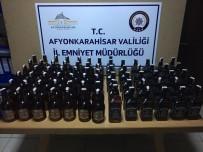 Çay'da 73 Şişe Kaçak Viski Ele Geçirildi
