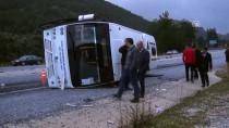 YOLCU MİDİBÜSÜ - Muğla'da Yolcu Midibüsü Devrildi Açıklaması 5 Yaralı