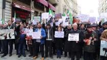 MİSKET BOMBASI - İstanbul'da Doğu Guta Saldırıları Protesto Edildi