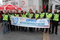 MOTOSİKLETÇİ - Motosikletçilerden Mehmetçik'e Kan Bağışı