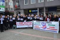OTURMA EYLEMİ - CHP'li Bayanlar Çocuk İstismarına Dikkat Çekti