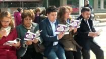 KALENDER - Çocuk İstismarını Kitap Okuyarak Protesto Ettiler