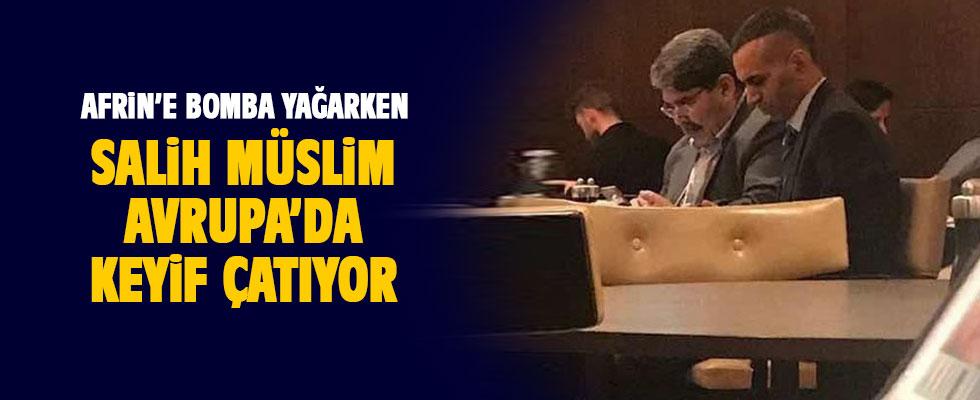 PYD'nin eşbaşkanı Salih Müslim Prag Marriot Hotel'de ortaya çıktı